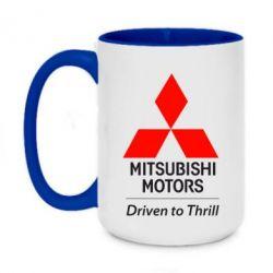 Кружка двухцветная 420ml Mitsubishi Motors