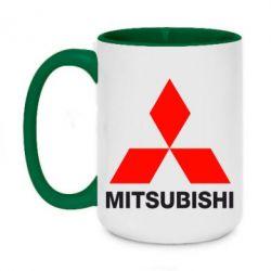 Кружка двухцветная 420ml Mitsubishi small