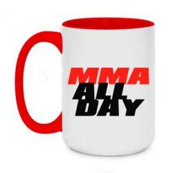 Кружка двухцветная 420ml MMA All day