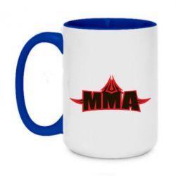 Кружка двоколірна 420ml MMA Pattern