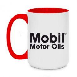 Кружка двухцветная 420ml Mobil Motor Oils - FatLine