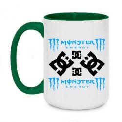 Кружка двоколірна 420ml Monster Energy DC Logo