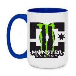 Кружка двоколірна 420ml Monster Energy DC