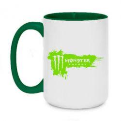 Кружка двоколірна 420ml Monster Energy Drink