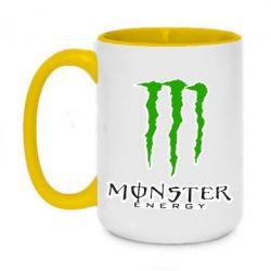 Кружка двухцветная 420ml Monster Energy Logo - FatLine