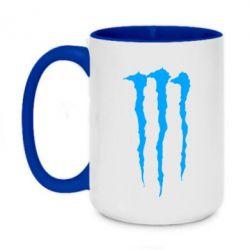 Кружка двухцветная 420ml Monster Energy Stripes 2