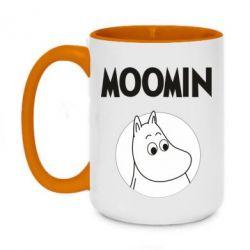 Кружка двоколірна 420ml Moomin