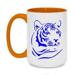 Кружка двухцветная 420ml Морда тигра