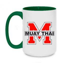 Кружка двухцветная 420ml Muay Thai Big M - FatLine