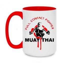 Кружка двухцветная 420ml Muay Thai Full Contact