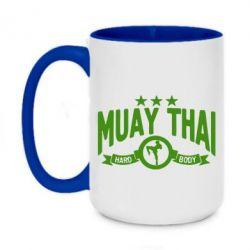 Кружка двухцветная 420ml Muay Thai Hard Body - FatLine