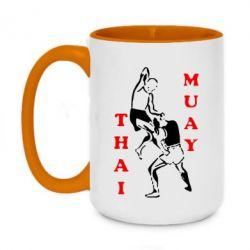 Кружка двоколірна 420ml Muay Thai Jump