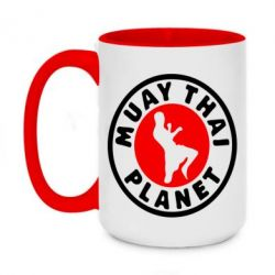 Кружка двоколірна 420ml Muay Thai Planet