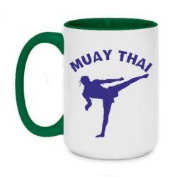 Кружка двоколірна 420ml Muay Thai