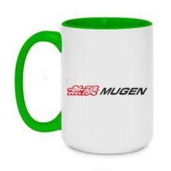 Купить Honda, Кружка двухцветная 420ml Mugen Logo, FatLine
