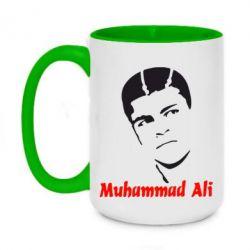 Кружка двухцветная 420ml Muhammad Ali
