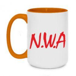 Кружка двухцветная 420ml N.W.A Logo