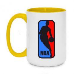 Кружка двухцветная 420ml NBA - FatLine