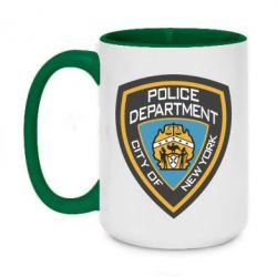 Кружка двоколірна 420ml New York Police Department