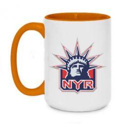 Кружка двухцветная 420ml New York Rangers - FatLine