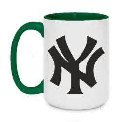 Кружка двоколірна 420ml New York yankees