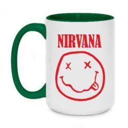Кружка двухцветная 420ml Nirvana (Нирвана) - FatLine