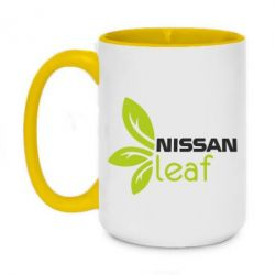 Кружка двухцветная 420ml Nissa Leaf