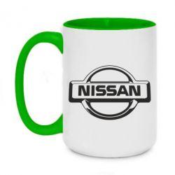 Кружка двоколірна 420ml Nissan Логотип