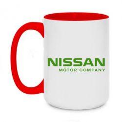 Кружка двоколірна 420ml Nissan Motor Company