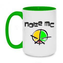 Кружка двоколірна 420ml Noize MC Logo