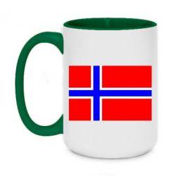 Кружка двоколірна 420ml Норвегія