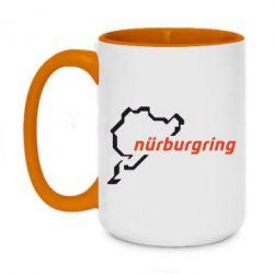 Кружка двухцветная 420ml Nurburgring