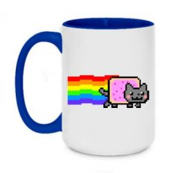 Кружка двоколірна 420ml Nyan cat