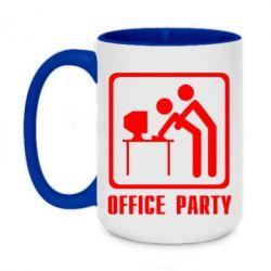 Кружка двухцветная 420ml Office Party
