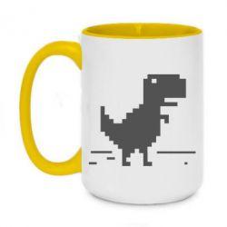 Кружка двухцветная 420ml Offline T-rex - FatLine