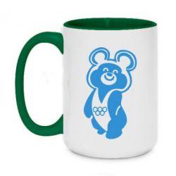 Кружка двоколірна 420ml Олімпійський Ведмедик