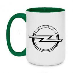 Кружка двоколірна 420ml Opel logo