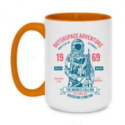 Кружка двоколірна 420ml Outerspace Adventure 69