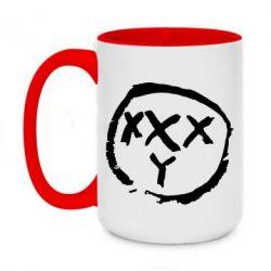 Кружка двухцветная 420ml Oxxxy
