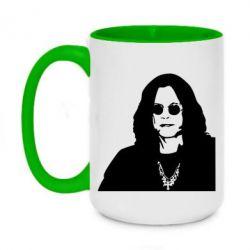 Кружка двоколірна 420ml Ozzy Osbourne особа