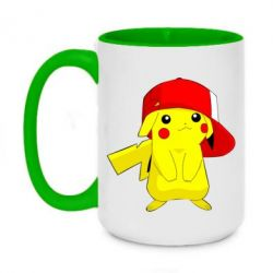 Кружка двухцветная 420ml Pikachu in a cap