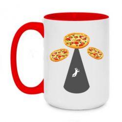 Кружка двоколірна 420ml Pizza UFO