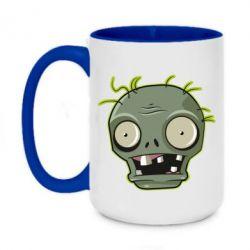 Кружка двоколірна 420ml Plants vs zombie head