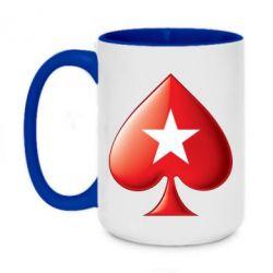 Кружка двоколірна 420ml Poker Stars 3D Logo
