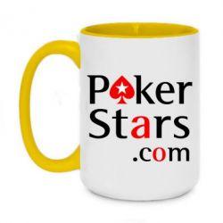 Кружка двухцветная 420ml Poker Stars