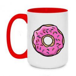 Кружка двухцветная 420ml Пончик Гомера