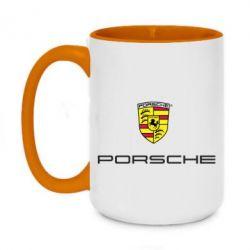 Кружка двухцветная 420ml Porsche - FatLine