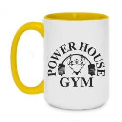 Кружка двоколірна 420ml Power House Gym