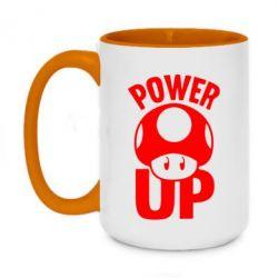 Кружка двухцветная 420ml Power Up гриб Марио