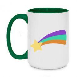 Кружка двоколірна 420ml Print Mabel star and rainbow